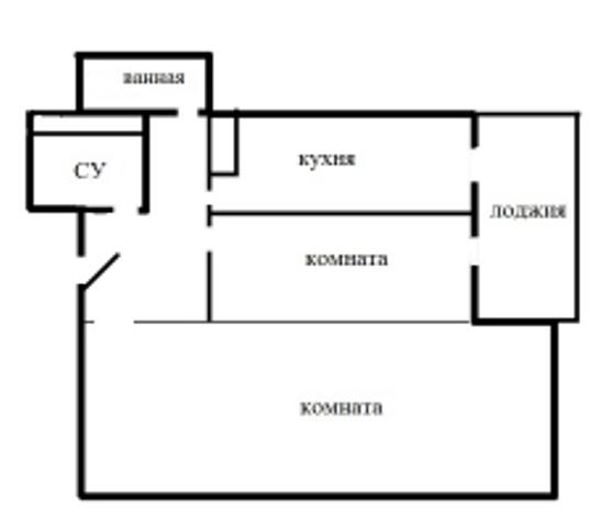 Двухкомнатная квартира Щелково Краснознамеская 17 к 4